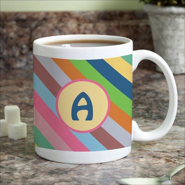 Colorful Stripes Personalized Coffee Mug