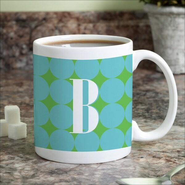 Blue Polka Dots Personalized Coffee Mug 16097625