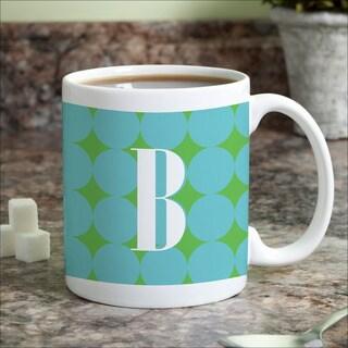 Blue Polka Dots Personalized Coffee Mug
