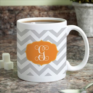 Chevron Initial Personalized Coffee Mug