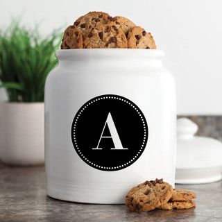 Circle Initial Personalized Cookie Jar