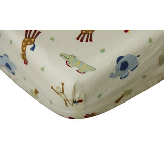 Happy Jungle Cotton Fitted Crib Sheet