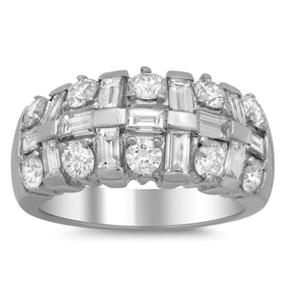 Artistry Collections 14k White Gold 2 1/2ct TDW Channel-set Diamond 3-row Ring (E-F, VS1-VS2)