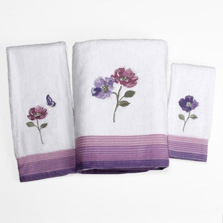 Saturday Knight Floral Waltz 3-piece Towel Set