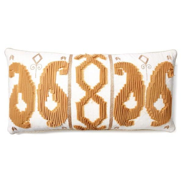 Beige Georgette 30-inch Belgian Linen Pillow