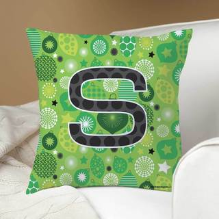Robin Zingone Green Personalized Throw Pillow