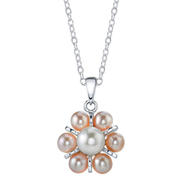 Radiance Pearl Sterling Silver White Freshwater Pearl Pendant (4-5mm)