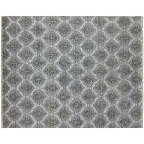Oushak Abdo Grey Hand-knotted Rug (8'1 x 10'0)