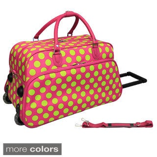 World Traveler Dots II 21-inch Carry-on Rolling Duffle Bag