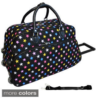 World Traveler Stars 21-inch Carry-on Rolling Duffle Bag