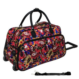 World Traveler Iridescent Paisley 21-inch Carry-on Rolling Duffle Bag