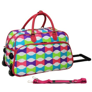 World Traveler Blissful 21-inch Carry-on Rolling Duffle Bag