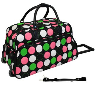 World Traveler Dots 21-inch Carry-on Rolling Duffle Bag