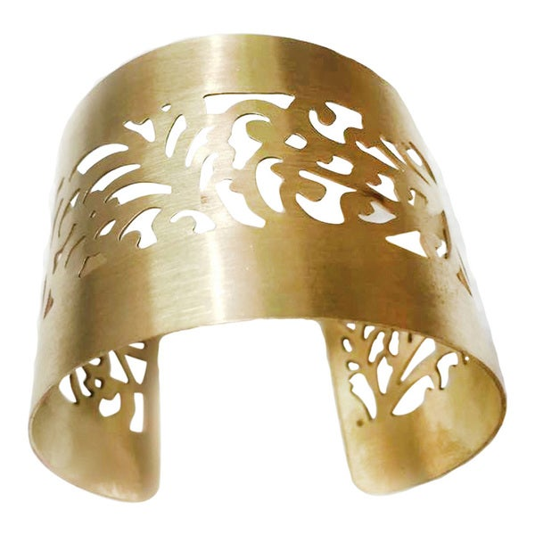 Handmade Royal Gold Plated Brass Cuff (India)