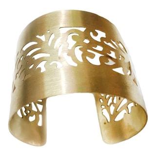 Handmade Royal Gold Plated Brass Cuff (India)