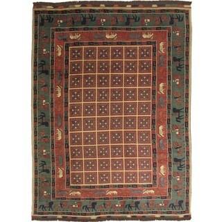 Karghi Farah Rust Hand-knotted Rug (8'9 x 11'11)