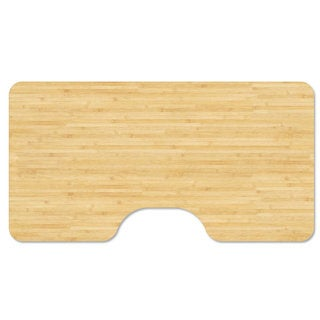 """53"""" x 30"""" Bamboo Table Top & Desk Top With Ergonomic Cut"""