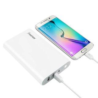Insten Universal Jumbo 16000mAh 2-port Portable External USB Power Bank with Micro USB cable for Samsung Galaxy S6/ Edge Plus