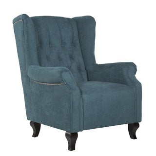 angelo:HOME Wesley Parisian Teal Blue Velvet Arm Chair