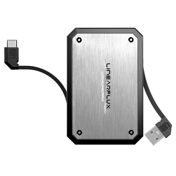 LithiumCard Pro HyperCharger 3000mAh Micro USB - Silver/Black