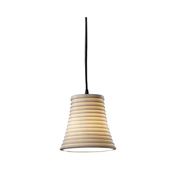 Justice Design Group Limoges 1-light Black Sawtooth Round Pendant