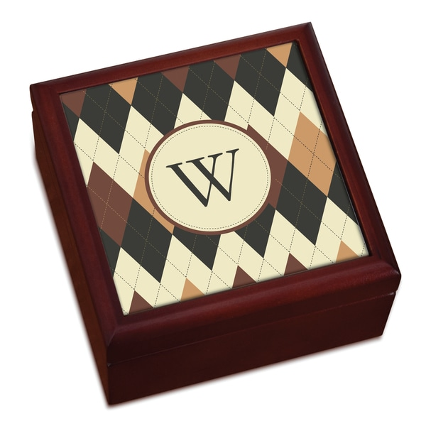Argyle Personalized Keepsake Box