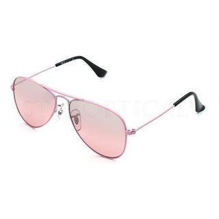 Ray-Ban RJ9506S Aviator Junior Unisex Shiny Silver Frame Grey Mirror Lens Sunglasses 16099090