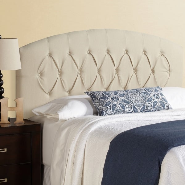 Humble + Haute Halifax Full Size Ivory Curved Upholstered Headboard