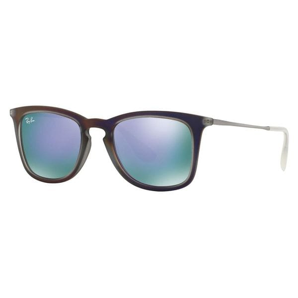 Ray-Ban Women's RB4221 Violet Plastic Square Sunglasses