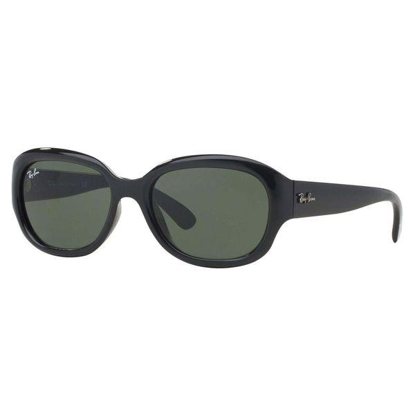 Ray-Ban Women's RB4198 Black Plastic Square Sunglasses