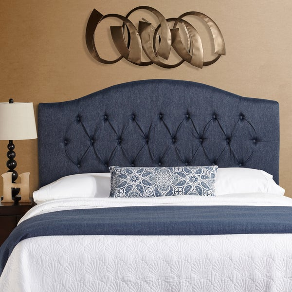 Humble + Haute Halifax Full Size Navy Blue Arched Upholstered Headboard
