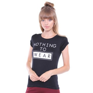 Juniors' 'Nothing To Wear' Black Tee
