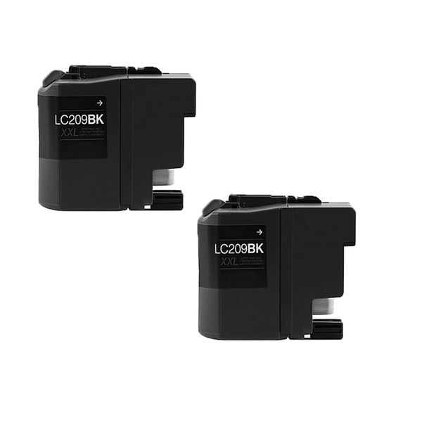 Brother LC209 BK XXL Compatible Inkjet Cartridge for MFC-J5320DW MFC-J5620DW MFC-J5625DW MFC-J5720DW (Pack of 2)