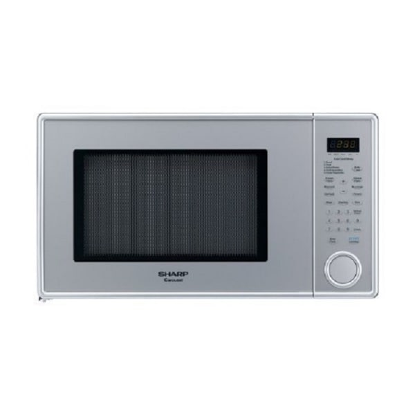 Sharp R-409YV R409 Series Pearl Silver 1.3 Cubic Feet 1000-watt Microwave Oven (Refurbished)