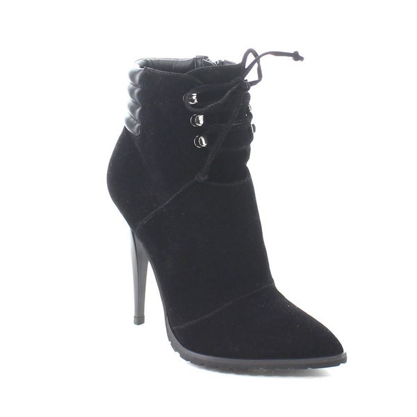 C Label Sharan-14 Women's Lace Up Collar Stiletto Pointed Toe Ankle Booties