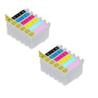 Epson 2x T0781 T0782 T0783 T0784 T0785 T0786 Compatible Inkjet Cartridge for (Pack of 12)