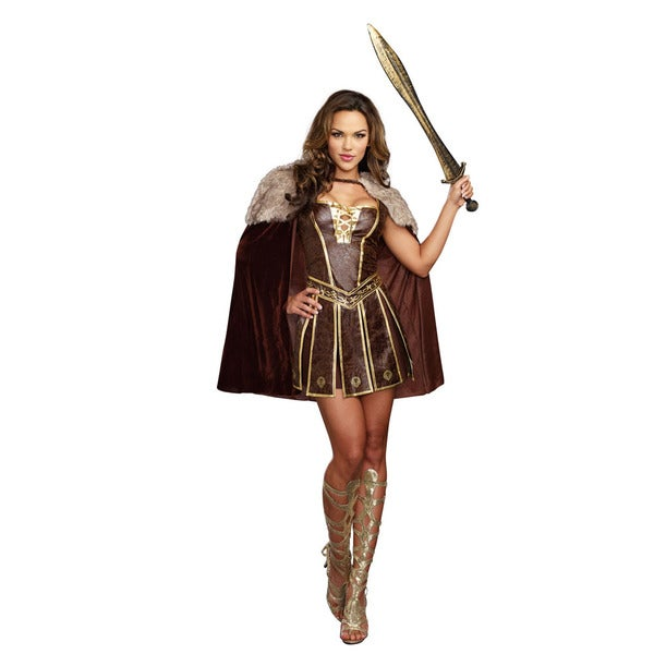 Dream Girl 9827 Women's Halloween Costume Victorious Beauty 3-piece Warrior Set