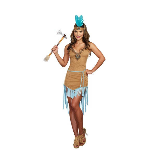 Dream Girl 9828 Women's Halloween Costume American Native Princess 3-piece Set