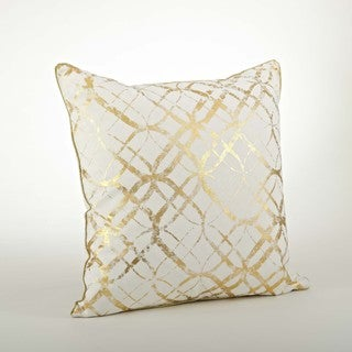 Metallic Foil Print Pillow - 20inch