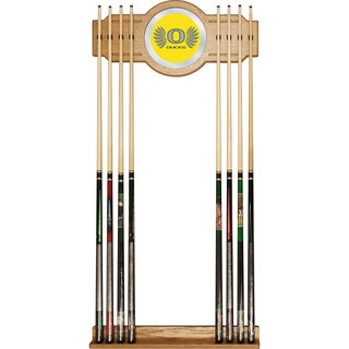 University of Oregon Cue Rack with Mirror - Wings
