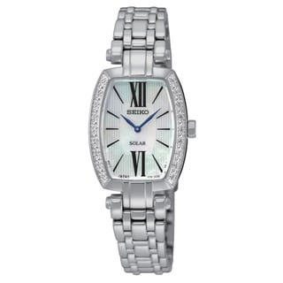 Seiko Women's Coutura SUP283 Stainless Steel 18 Diamond and Mother of Pearl Dial Watch