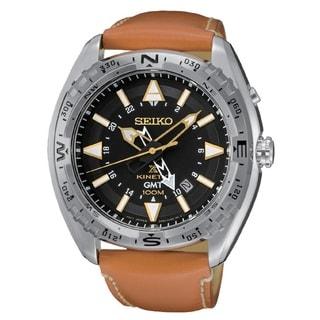 Seiko Men's SUN055 Stainless Steel Men's Kinetic Prospex Date Window Watch