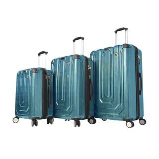 Mia Toro Spazzolato Metallo 3-piece Hardside Spinner Luggage Set