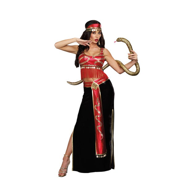 Dream Girl 9881 Women's Halloween Costume The Snake Charmer 3-piece Set