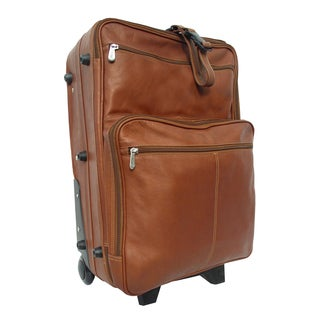 Piel Leather 22-inch Carry-on Upright Suitcase