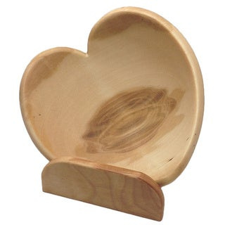 Heart Wood Bowl with Engraved Stand
