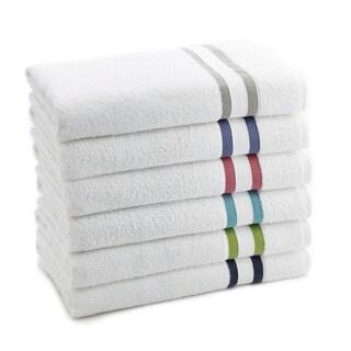 Vibrant Stripe Long Twist Cotton 6-piece Towel Set