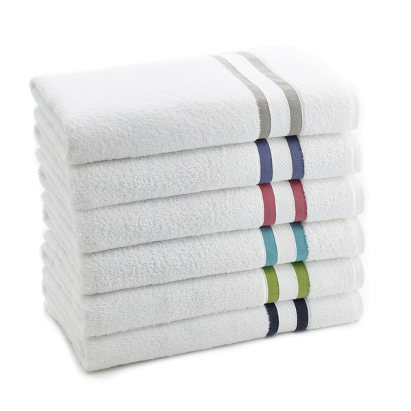 Vibrant Stripe Long Twist Cotton 6-piece Towel Set