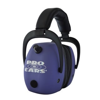 Pro Ears NRR 30 Pro Mag Gold Electronic Hearing Protection and Amplification Purple Shooting Range Ear Muffs