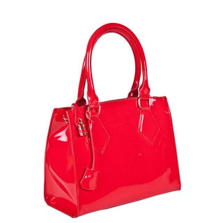 Lithyc 'Bettie' Patent Vegan Leather Satchel